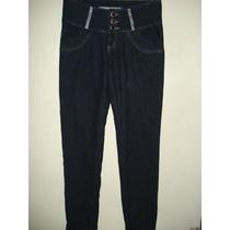 Calça Jeans Da Pool C/ Strass E Elastano Tam 40