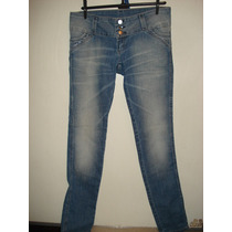 Calça Jeans Da Sawary C/ Strass E Elastano Tam 42