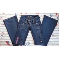 Calça Jeans Com Detalhe Bordado - Tam. 36 - Linda