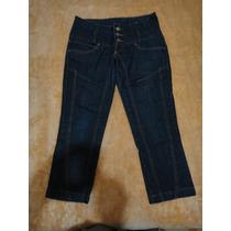 Capri - Corsário - Jeans - Osmoze - Azul Escuro - Tamanho 38