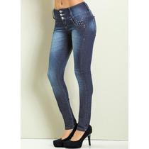 Calça Jeans Detalhes Spikes - Vários Tamanhos - Nova