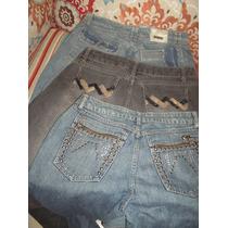 Calças Jeans Fem Nº 42 D L A Lote C 3 Peças Sem Strech