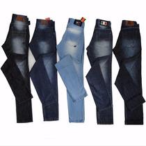 Kit Calça Jeans Masculino 5 Unid Lote Atacado Frete Grátis