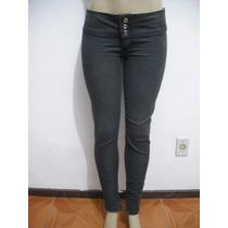 Calça Jeans Preta Tam 38 Skinny Bom Estado
