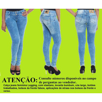 Sawary Calça Jeans Feminina Levanta Bumbum Legging ¿ 233065
