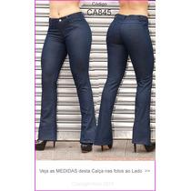 Calça Flare Jeans Azul Hot Pants Boca Sino Pantalona Hot 845