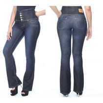 Calça Jeans Sawary Modela E Levanta Bumbum Com Bojos Pit Bul