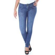 Calça Jeans Sawary Feminina Levanta Bumbum Legging
