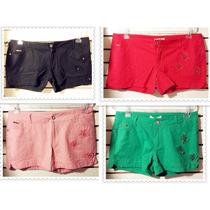Shorts Legging Calça Renda Flor Várias Cores Colorido Cinto