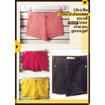 Shorts Legging Calça Várias Cores Colorido Promocao Pronto E
