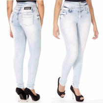 Sawary Jeans Calça Cintura Média Modela Bumbum Com Bojos Pit