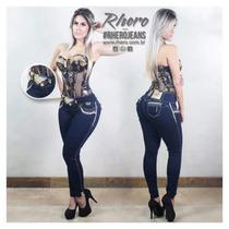 Calça Jeans Rhero Com Bojo Levanta Bumbum