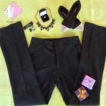 Calça Social Feminina Preta (tamanho 38)