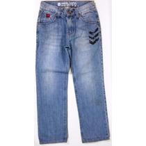 Calça Jeans Opção - T.12 - Estonada - Ponta Est. 50% Off!!!