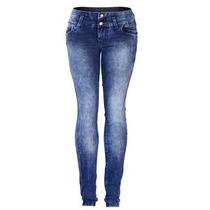Calça Jeans Feminina Skinny Lycra Cós Médio 1687