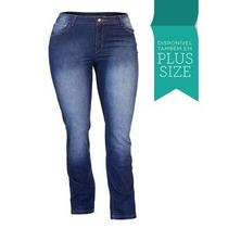 Calça Jeans Feminina Lycra Cós Alto Plus Size 1942