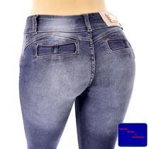 Calça Jeans De Mulher Levanta Bumbum Com Strech E Elastano