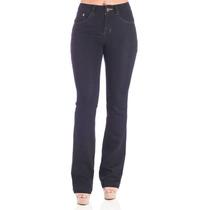 Calça Jeans Flare 38 Azul Escuro Denúncia