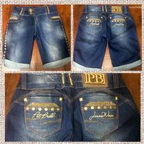 Bermuda Pit Bull Jeans Fitness Nova Coleção! Cód. 18442