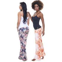 Calça Floral Sunthrice Com Proteção Solar Uva/uvb Feminina
