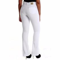 Sawary Jeans Calça Cintura Alta Hot Pant Flare