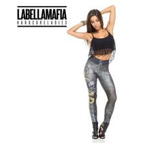 Calça Legging Labellamafia Ca06 Estampada Frete Gratis