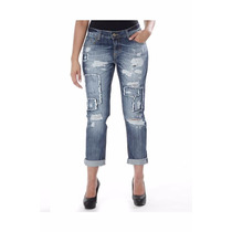 Sawary Jeans Calça Feminina Boy Friend Destroyed Linda!