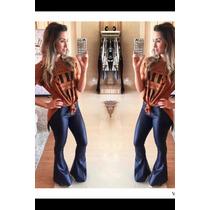 Moda Feminina Calça Fler/flare Tecido Cirre, Super Elegante