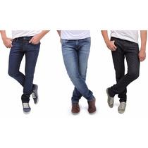 Kit 05 Calça Jeans Masculina Skinny Com Lycra - Frete Grátis