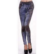 Calça Legging Com Estampa Jeans Varejo E Atacado