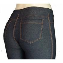 Calça Feminina Cotton Jeans Cintura Alta Com Lycra E Bolso