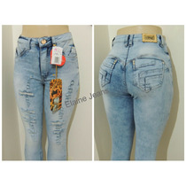 Calça Jeans Hot Pants Rasgadinha Afront Estilo Pitbull