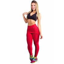 Calça Legging Fitness Em Tecido Bolha [ Calças Femininas ]