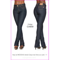 Hot Pants Calça Flare Feminina Com Elastano Azul Escura 845