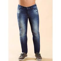Calça Jeans Com Lycra Masculina Skiny
