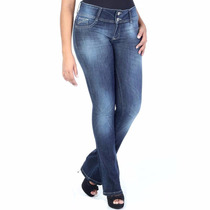 Sawary Calça Jeans Feminina Flare Lycra 238121 Lançamento.
