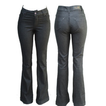 Calça Flare Cós Alto Jeans Com Elastano Melhor Preço Ml