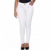 Calça Jeans Feminina Sawary Branca Levanta Bumbum Legging
