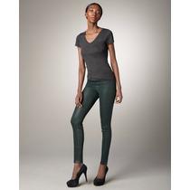 Calça J. Brand Jeans - Super Skinny Coated Forrest / Tam. 35