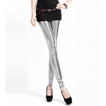 Legging Importada - Metalizada - Prateada