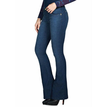 Calça Jeans Flare Feminina Cos Alto Hotpants Cint. Alta