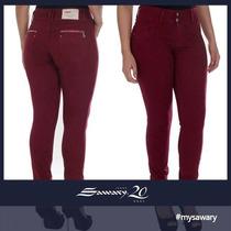 Calça Jeans Sawary Hot Pant Pants Cintura Alta Cós Largo
