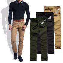Calça Masculina Jeans Sarja Colorida Slin Fit 38 Ao 60