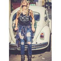 Calças Jeans Rasgada Femininas Revanche