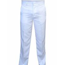 Calça Social Branca De Gabardine Masculina Medico Enfermeiro