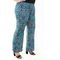 Calça Flare Pantalona Plus Size Feminina