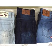 Kit Atacado 03 Calças Jeans Masculina Skiny Importada.