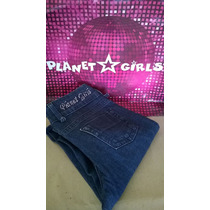 Calça Jeans Feminina Planet Girls Com Ziper Perna