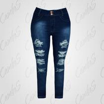 Calca Jeans Plus Size Rasgada Tam. 52/ 54 /58