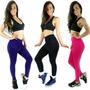 Calça Legging Tapa Bumbum Saia Liso Suplex Academia Fitness
